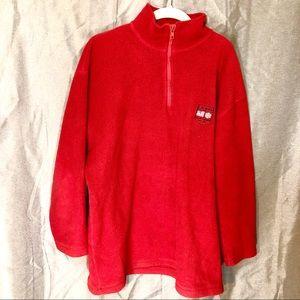 Lauren Ralph Lauren Red Fleece Pullover
